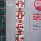 80's Christmas Plastic Canvas Craft Kit NOEL Vintage Wall Hanging or Coasters Patterns
