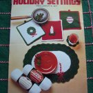 Vintage Christmas Crochet Patterns Table Setting Place Mat Pot Holders Coasters 1077