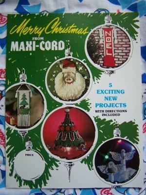 Free Shipping USA 5 Vintage Merry Christmas Macrame Patterns Angels Santa Tree Banner