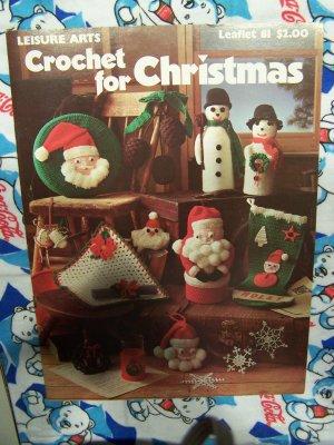 Free USA S&H 1970's 12 Vintage Christmas Crochet Patterns Leisure Arts 81