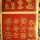 S&H Free USA Crochet Patterns Christmas Ornaments 12 Snowflakes & 4 Angles 255