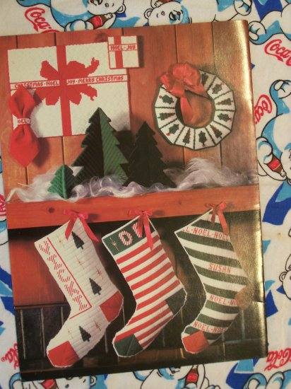 Free USA S&H 20  Christmas Plastic Canvas Patterns Ornaments Stockings