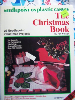 Free USA S&H  23 Needlepoint Plastic Canvas Christmas Patterns Projects 7459