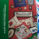 Free S&H USA Vintage Gloria & Pat 41 Christmas Thread Counted Cross Stitch Patterns Book 1978