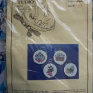 Vintage Christmas Cross Stitch Needlepoint Kit Cat Ornaments Set of 4