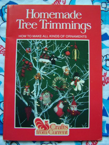 80's Retro Christmas Tree Ornaments 15 Patterns Mixed Crafts Handmade Trimmings