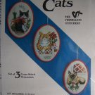 New Vermillion Christmas Cat Ornaments Stitchery Counted Cross Stitch Craft Kit