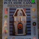 Plastic Canvas House Pattern w 3 Shaped 7 Mesh Houses Holiday Decorations