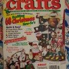 Nov 1993 Christmas Crafts Magazine Patterns Crochet Plastic Canvas Sewing Cross Stitch
