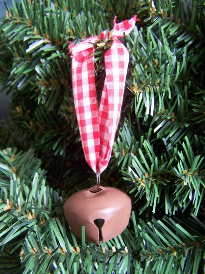 10 Primitive Rusty Jingle Bell Christmas Ornaments Country Rustic