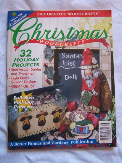Free USA S&H 32 Christmas Woodworking Patterns Wood Holiday Projects Book Back Issue 1997