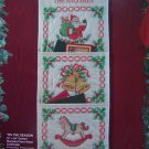 Bucilla Craft Kit  Tis The Season Quilted Stamped Cross Stitch Christmas Card Holder 83145