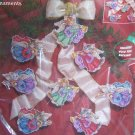 Janlynn Christmas Cross Stitch on Plastic Canvas 8 Angel Cat Ornaments Kit