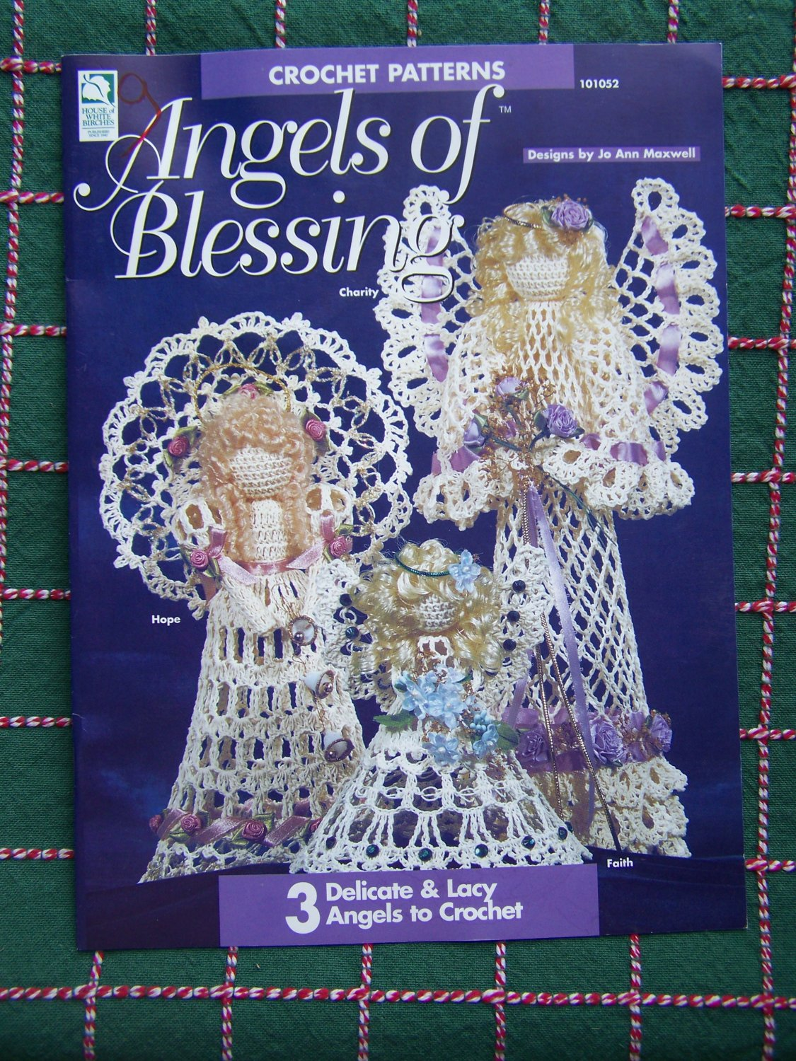 New 3 Crochet Christmas Patterns Angels Ornaments Tree Toppers Decor