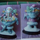 3 Porcelain Figurines Christmas Painting Instructions Santa with Kittens Toys Mr Mrs Santa Mistletoe
