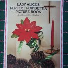 Free USA S&H Vintage Lady Alice's Perfect Poinsettia Crochet Pattern Cathedral Lace Tablecloth