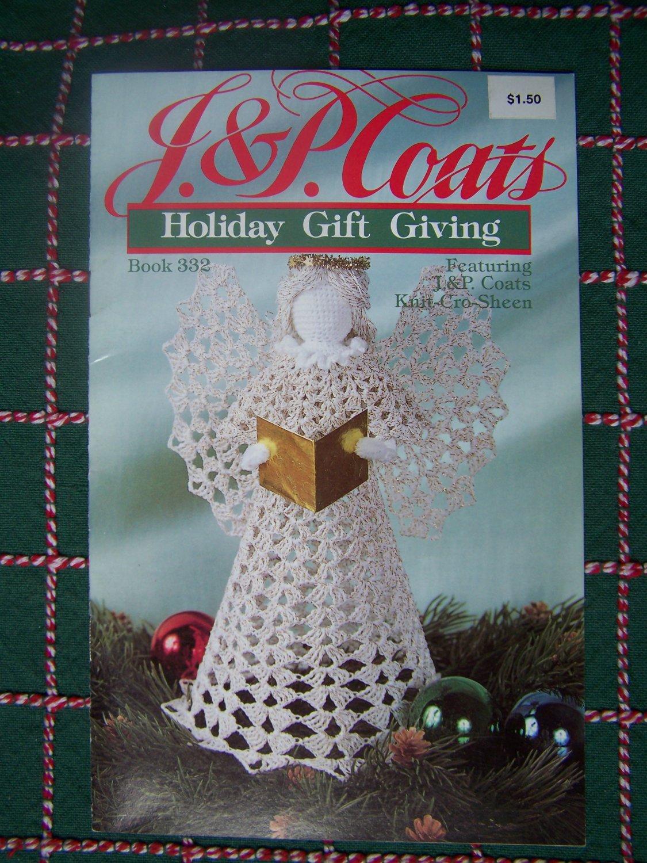 USA Free S&H Vintage 2 Knitting 5 Crochet Christmas Patterns Angel Snowflakes Stockings Skirt