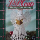 USA Free S&H Vintage 2 Knitting 5 Crochet Christmas Patterns Angel Snowflakes Stockings Skirt