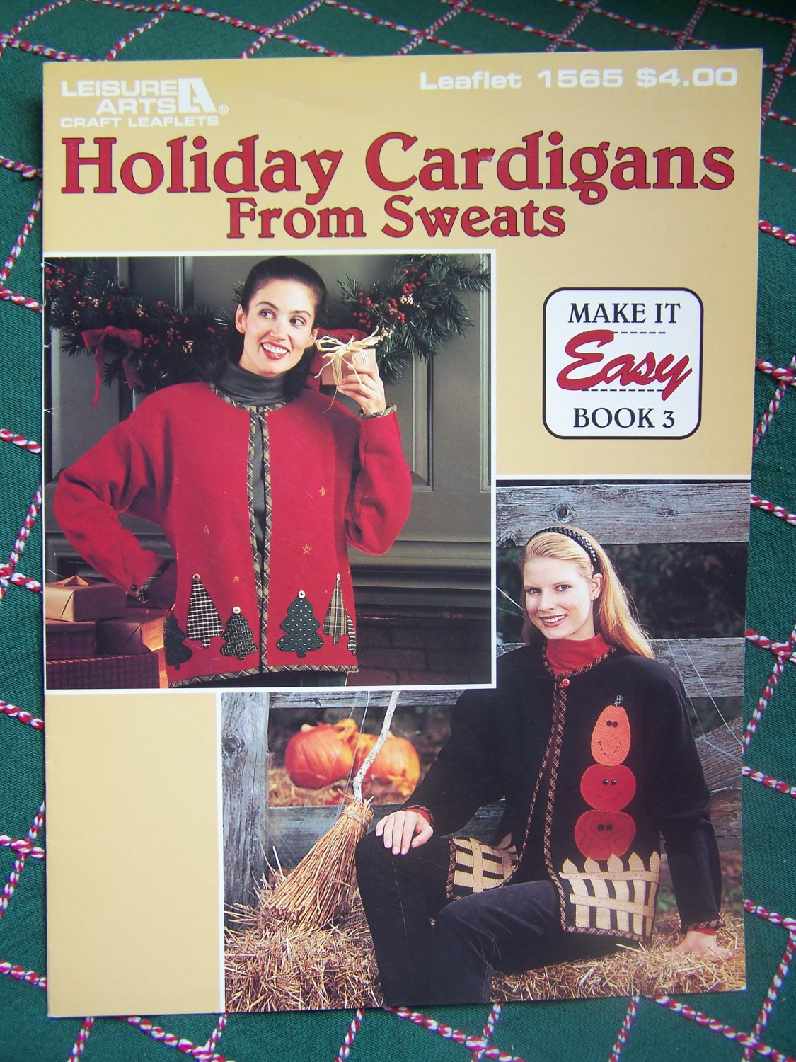 USA Free S&H How to Make Holiday Appliqued Jackets From Sweatshirts Blanket Stitch