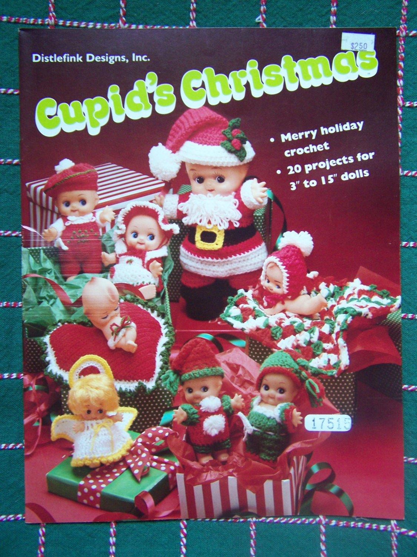 USA Free S&H  24 New Christmas Crochet Patterns Cupid Dolls Clothing Lot