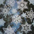 16 Vintage Snowflakes Christmas Crochet Patterns Ornaments Decorations
