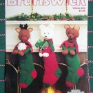 Vintage Knitting Patterns Christmas Stuffed Animal & Sampler Stockings Tree Skirt