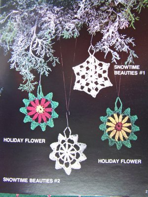 Vintage Crochet Christmas Patterns Angel Dove Gingerbread Rocking Horse Bells Santa Snowman Icicle +