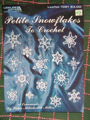 New 35 Thread Crochet Mini Christmas Snowflake Patterns Small Cotton Snowflakes
