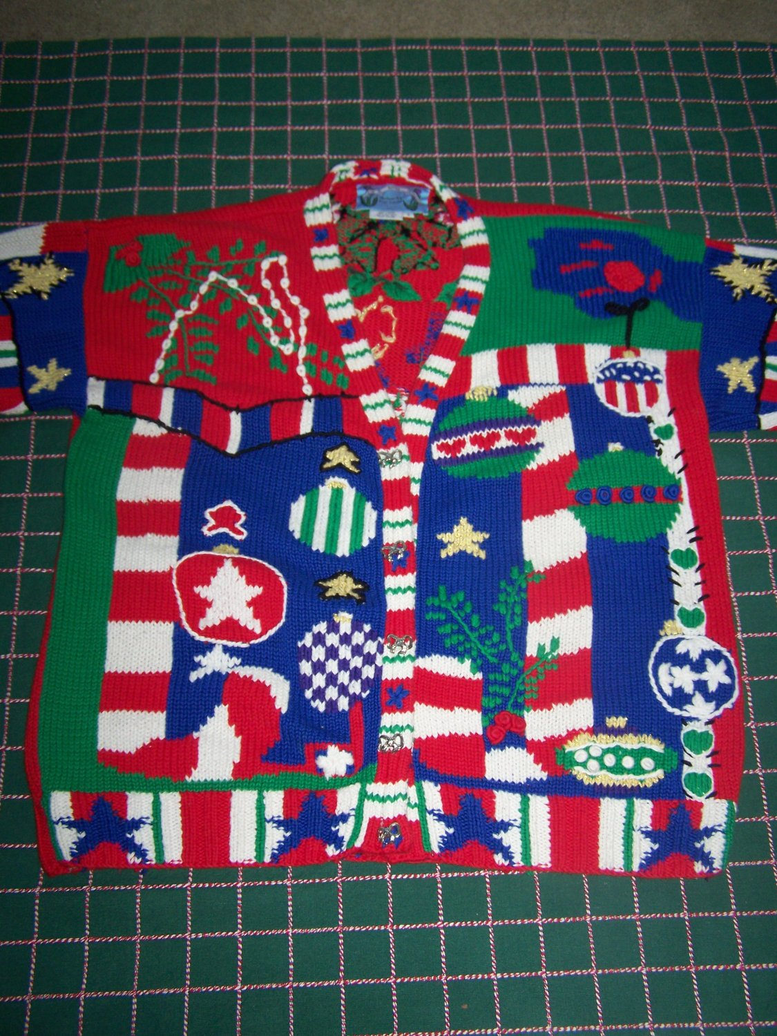 Vintage Ugly Christmas Sweater Mens Womens Cardigan Tacky Holiday Winner Best Offer