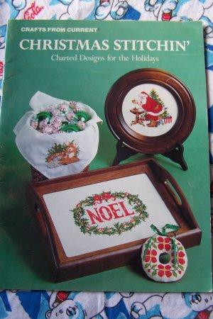 Vintage Christmas Stitchin Cross Stitch Holiday Patterns Book Free USA S&H