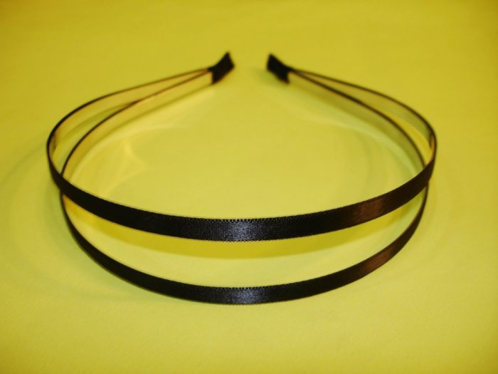 Black Double Metal Headband Hair Band