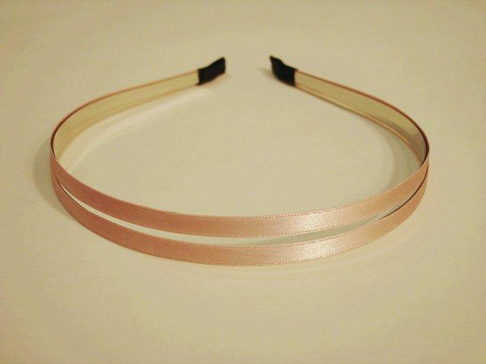 Pink Double Metal Headband Hair Band