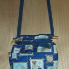 Purse Boyds teddy bear winter quilt denim organizer handbag