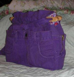purse purple denim quilt organizer reversible handbag