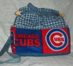 purse Chicago Cubs denim quilt organizer reversible handbag