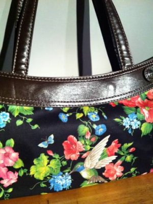 handmade hummingbird  fitted skirt for a thirty one gifts skirt purse