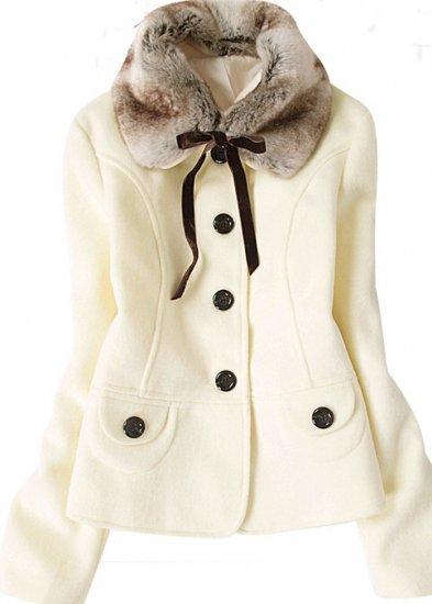 Button Down Fur Collar Tie Jacket (3 colors)
