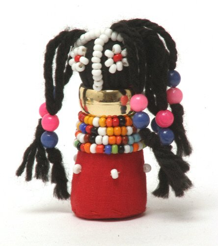 Doll with Beads & Woollen Hair