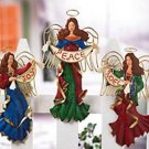 BLESSING FENCE ANGELS CHRISTMAS HOLIDAY DECORATION
