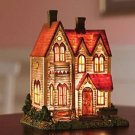 VICTORIAN HOUSE WITH LIGHT CHRISTMAS HOLIDAY DECORATION