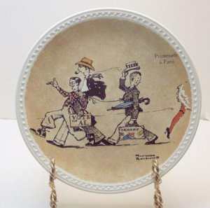 PROMENADE A PARIS  NORMAN ROCKWELL COLLECTOR PLATES