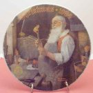 SANTA IN HIS WORKSHOP  NORMAN ROCKWELL  COLLECTOR PLATES
