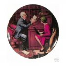 THE PROFESSOR  NORMAN ROCKWELL  COLLECTOR PLATES
