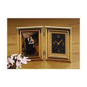 BROOKWOOD FOLDING PICTURE FRAME AND CLOCK
