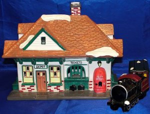 VILLAGE STATION AND TRAIN