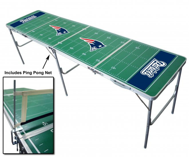 Official NFL Tailgate Table - New England Patriots