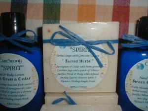 Spirit Sacred Herb Sweetgrass Sage Cedar Big Bar Earthsong Soap