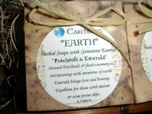 Earth Patchouli and Emerald Big Bar Soap
