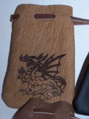 Dragon Leather Medicine Magic Bag Pouch NICE!