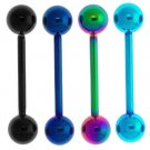 Titanium Anodised 14GBarbell with Ball